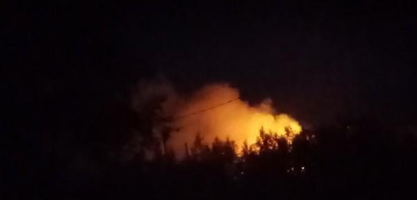 Ночной пожар в ночь на 26 июля Центральный Коспашский