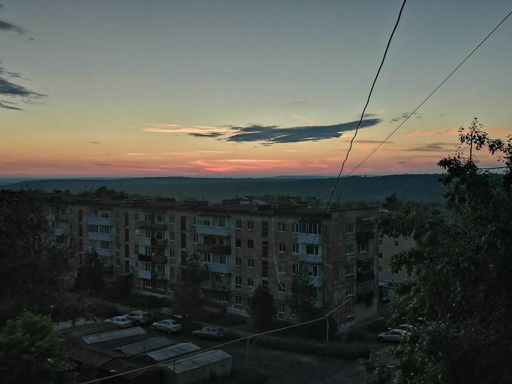 Вечерний закат в Кизеле