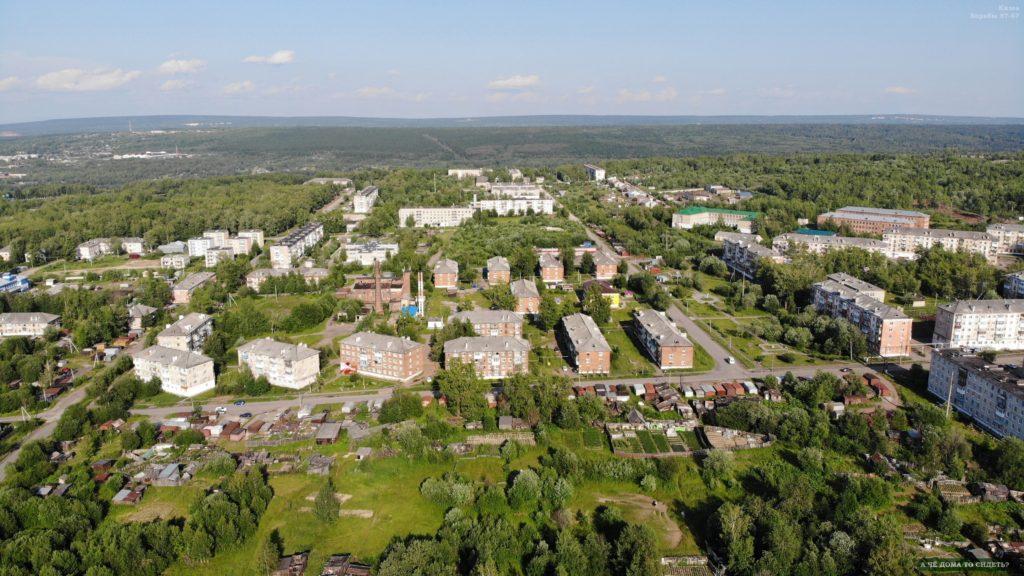 Улица Борьбы с высоты 200 метров.