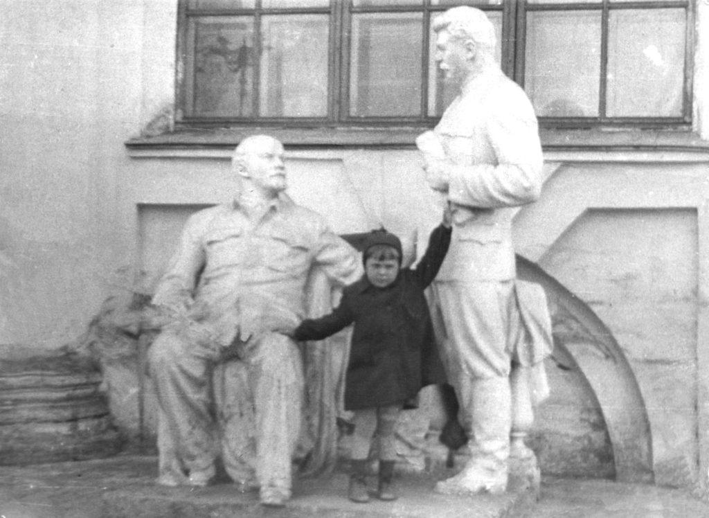 Памятник Ленину и Сталину 1953 г.