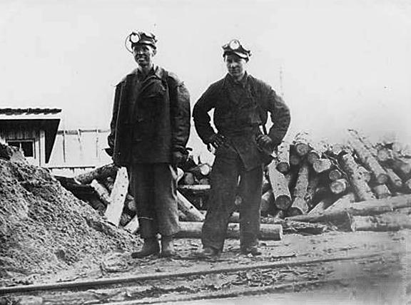 Кизеловские шахтеры