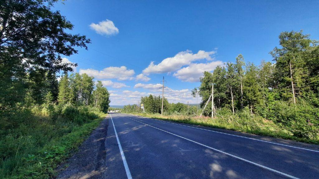Федеральная трасса Кунгур-Соликамск, в Кизеле.
