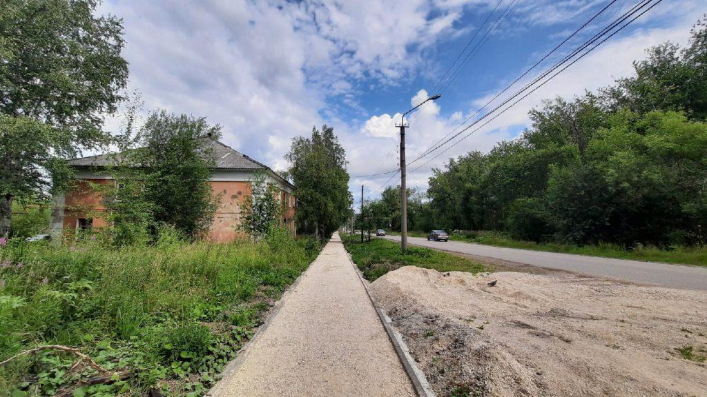Новый тротуар по улице Пролетарская. Дата: 18.07.2021 г.